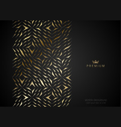 Geometric vip golden greeting card black premium vector