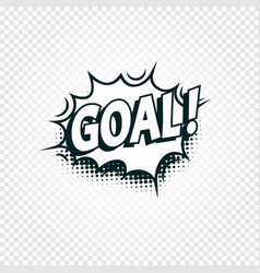 Goal icon comics cloud with halftone shadow goal vector