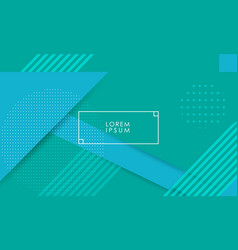 green and blue geometric background vector image