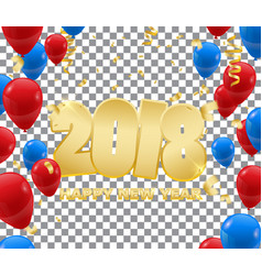Happy new year 2018 background wit confetti vector