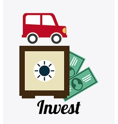 invest design vector image
