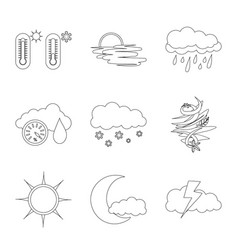 isolated object weather and climate symbol set vector image
