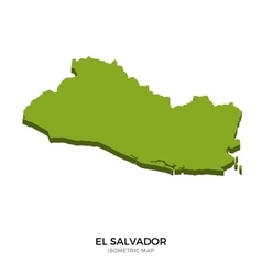 Isometric map of El Salvador detailed vector