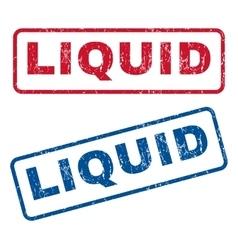 Liquid Rubber Stamps vector