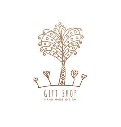 logo gift shop vector image