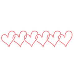 love heart logo and template vector image