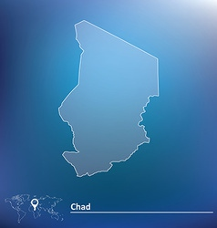 Map of Chad vector image