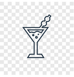 martini concept linear icon isolated on vector image