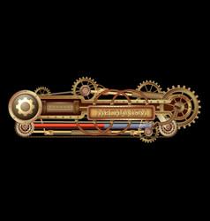 mechanical fantastic banner vector image