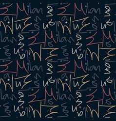 Milan seamless pattern vector