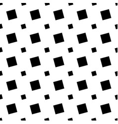 Monochrome seamless geometric square pattern - vector