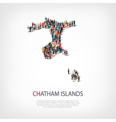 people map country Chatham Islands vector image