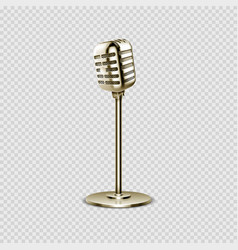 Realistic microphone vintage voice device vector