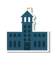 School building place isolated icon vector