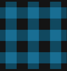 seamless black dark and bright blue tartan vector image
