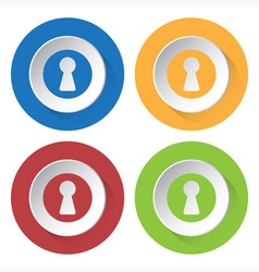 set of four icons - keyhole vector image
