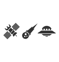 Set space icons vector