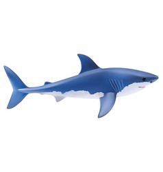 Shark isolated on white realistic 3d vector