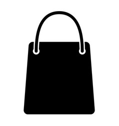 Shopping bag silhouette icon 48x48 pictograph vector