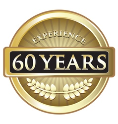 Sixty Years Experience Gold vector