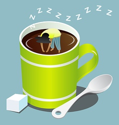 Sleep Coffee vector image