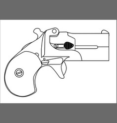 Small derringer pistol vector