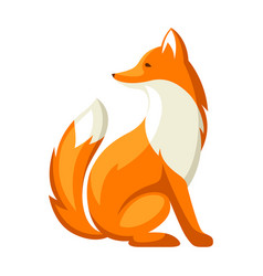stylized fox woodland forest vector image