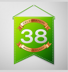 Thirty eight years anniversary celebration design vector