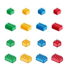 toy brick icon set vector image