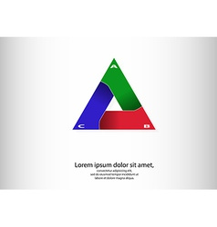 Triangle logo infographic vector