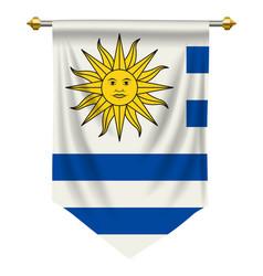 uruguay pennant vector image