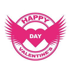 valentine stamp vector image
