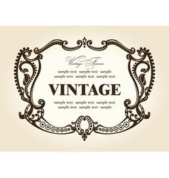 Vintage rococo retro frame ornament vector
