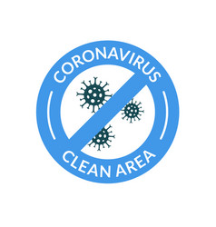 virus medical safe symbol coronavirus sign vector image