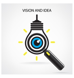 Vision and ideas signeye icon vector