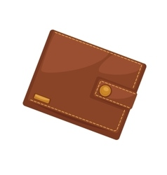Wallets with money shopping Purse cash vector