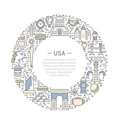 Web Banner or Emblem USA vector image