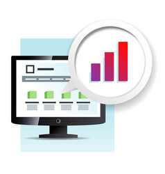 Web page on the monitor icon vector