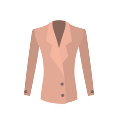 Women jacket double-breasted with buttons vector