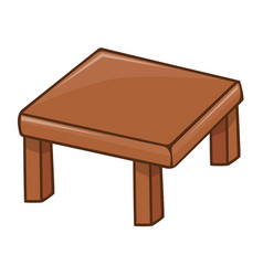 Wooden table isolated vector