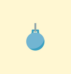 Wrecking ball icon flat element vector