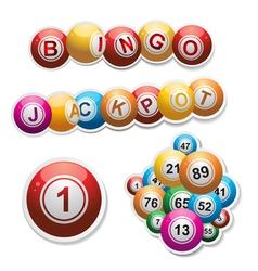 bingo stickers set vector image vector image