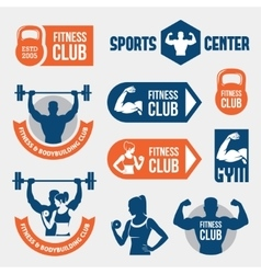Colored gym labels vector image
