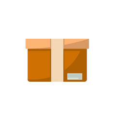 packing box isolated icon in flat style vector image