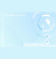 world map in circle interface virtual future vector image