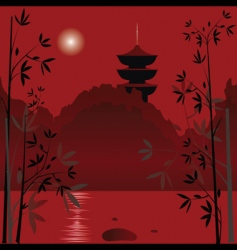 Asian background vector image vector image