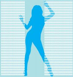 girl behing bead curtail vector image