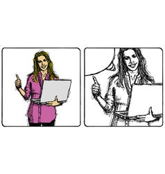 internet vector image vector image