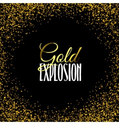 Luxury golden texture Gold frame glitter isolated vector image vector image