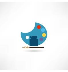 Palette icon vector